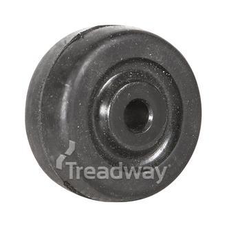 Wheel 50mm Nylon 6.2mm Bore solid rubber