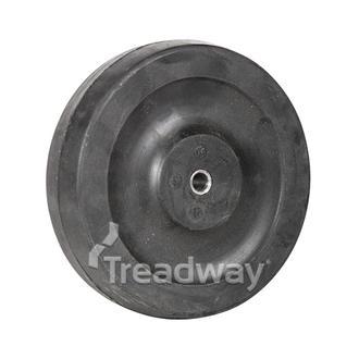 Wheel 125mm Dia Nylon 8.3mm Bore Solid