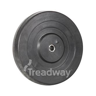 Wheel 150mm Nylon 10.0mm Bore Solid