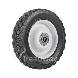 """Wheel 6"""" White Steel Ctr ½"""" BB Offset Dia"""