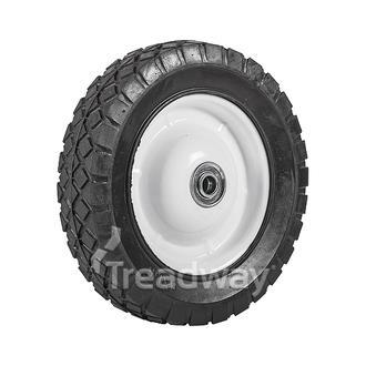 """Wheel 8"""" White Steel Ctr ½"""" BB Offset Dia"""