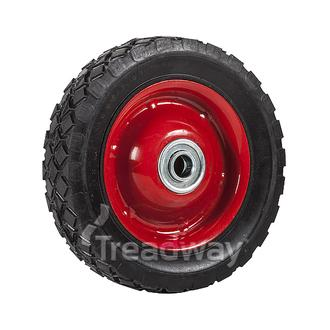 "Wheel 6"" Steel Red ½"" BB Ctrd Dia"
