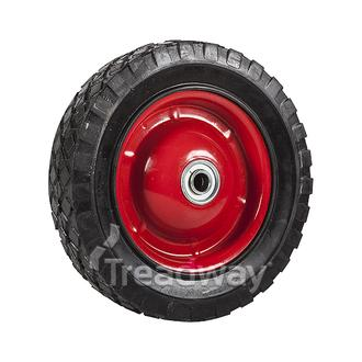"Wheel 8"" Red Steel Ctr ½"" BB Ctrd Dia"