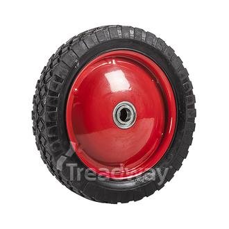 "Wheel 10"" Red Steel Ctr 3/4"" BB Ctrd Dia W108"