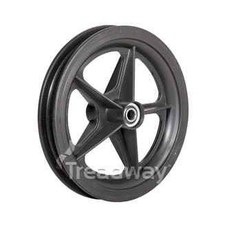"Rim 8"" Plastic Black Golf Spoke ½"" BB"