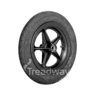 "Wheel 8"" Golf Spoke ½"" BB Rim 12½x2¼ Road Tyre W101 Deestone"