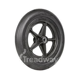 """Wheel 8"""" Golf Spoke ½"""" BB Rim 12½x2¼ EVA Solid Rib Tyre"""