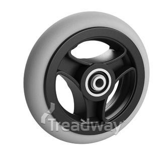 Mobility Caster Wheel 125mm, 25mm wide, 8mm Hub 3 Spoke