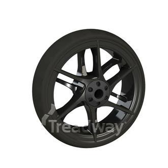 "Mobility Caster Wheel 4"" Carbon Rim 40mm Hub Width"