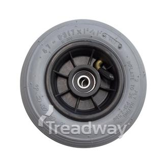 """Mobility Castor Wheel 7x1-3/4"""" Grey Tyre for Power Chair 12mm Bearing 45m Hub W"""