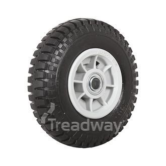 """Wheel 4"""" Plastic Grey ¾"""" FB Rim 250-4 Solid W102"""