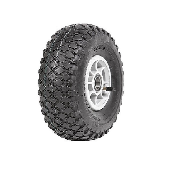 "Wheel 4"" Silver/Grey 25mm BB Rim 300-4 4ply Diamond Tyre W108 Deestone"