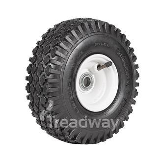 "Wheel 4"" Plastic Offset ¾"" FB Rim 410/350-4 4ply Diamond Tyre W108 Deestone"