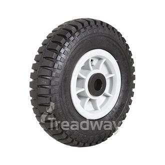 """Wheel 4"""" Plastic Grey 20mm Bush Rim 250-4 Solid W102"""