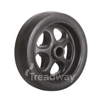 "Jockey Wheel Only 6"" Plastic Ctr 16mm Bore Solid"