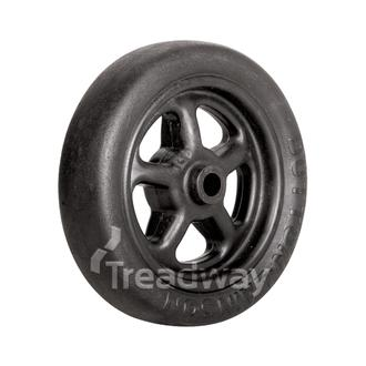"Wheel 8"" Plastic Ctr 16mm Bore Solid"