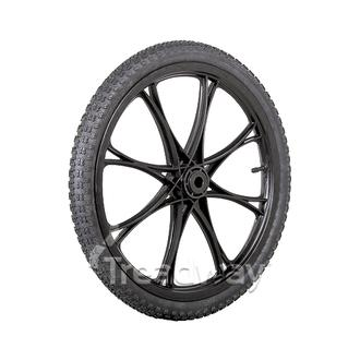 "Wheel Black Rim ¾"" Bush 20x2.125 Tyre"