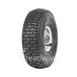 "Wheel 2.50-4"" Silver 1"" FB Rim 11x400-4 4ply Turf Tyre W130 Deestone"