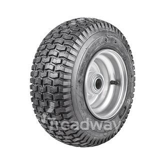 "Wheel 4.50-6"" Silver 1"" FB Rim 13x500-6 4ply Turf Tyre W130 Deestone"