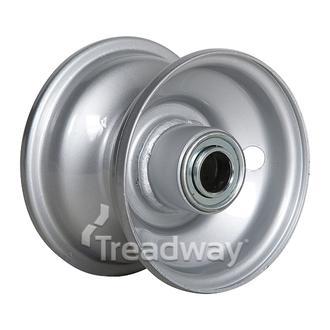 "Rim 2.50-4 Steel Silver 1/2"" FB"