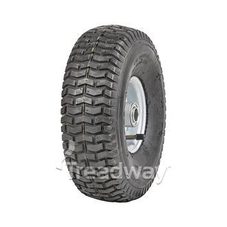 "Wheel 2.50-4"" 2pc Zinc ¾"" FB Rim 11x400-4 4ply Turf Tyre W130 Deestone"
