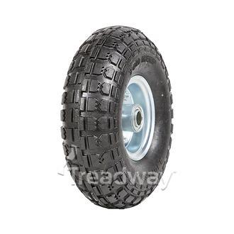 "Wheel 2.50-4"" 2pc Zinc ¾"" FB Rim 410/350-4 Solid Rubber Tyre W106"