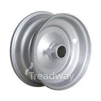 """Rim 2.50-6 Steel Silver 1"""" Bore"""