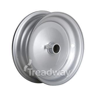 """Rim 2.50-8 Steel Silver 1"""" Bore"""