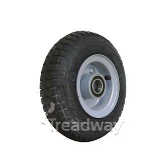 """Wheel 2.50-4"""" 2pc Silver 25mm BB Rim 250-4 4ply Industrial Tyre W102 Deestone"""