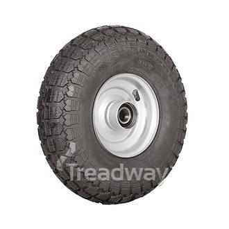 "Wheel 2.50-6"" Silver 25mm BB Rim 400-6 4ply HD Tyre W106"