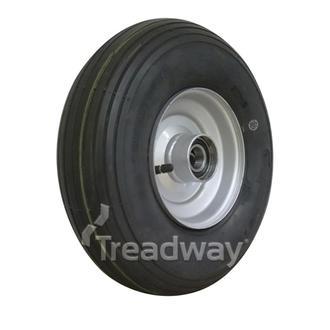 """Wheel 2.50-6"""" Silver 1"""" BB Rim 400-6 4ply Rib Tyre W104 +T Deestone"""