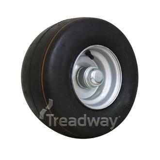 "Wheel 4.50-6"" Silver 25mm BB Rim 13x650-6 4ply Slick Tyre W112"
