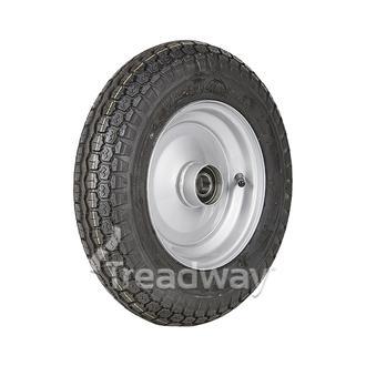 "Wheel 2.50-8"" Silver 25mm BB Rim 350-8 4ply Univ Tyre W118 Deestone"