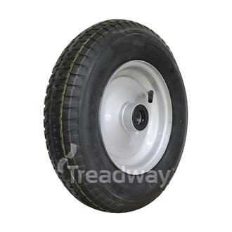 "Wheel 2.50-8"" Steel Silver25mm BB Dlb Seal Rim 480/400-8 4ply Tyre W110"