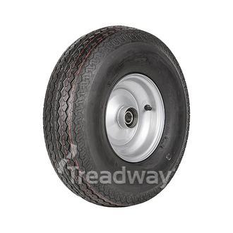 """Wheel 3.75-8"""" Silver 25mm BB Rim 570-8 8ply Road Tyre W116 Deestone"""
