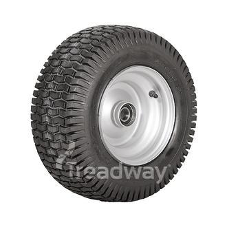 "Wheel 5.50-8"" Silver 25mm BB Rim 16x650-8 4ply Turf Tyre W130 Deestone"
