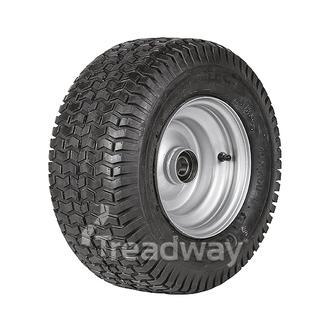 "Wheel 5.50-8"" Silver 25mm BB Rim 16x750-8 4ply Turf Tyre W130 Deestone"