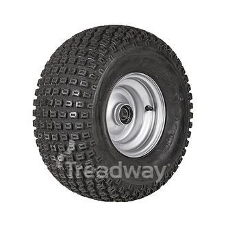 "Wheel 5.50-8"" Silver 25mm BB Rim 18x950-8 6ply Knobby Tyre W134"