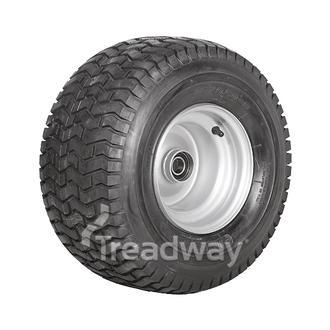 "Wheel 7.00-8"" Silver 25mm BB Rim 18x950-8 4ply Turf Tyre W130 Deestone"
