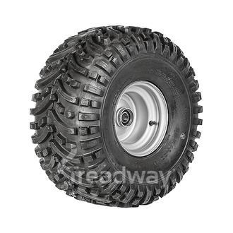 "Wheel 7.00-8"" Silver 25mm BB Rim 22x11-8 4ply ATV Tyre W150 Deestone"