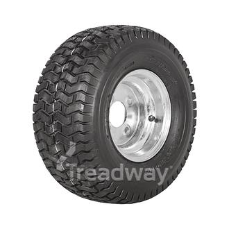 """Wheel 5.375-8"""" Galv 4x4"""" PCD Rim 18x850-8 4ply Turf Tyre W130 Deestone"""