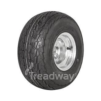 """Wheel 5.375-8"""" Galv 4x4"""" PCD Rim 18.5x8.5-8 6ply Road Tyre W146 Deestone"""