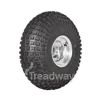 "Wheel 7.00-8"" Galv 4x4"" PCD Rim 22x11-8 4ply Knobby Tyre W136 Deestone"