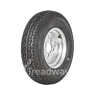 """Wheel 4.00-10"""" Galv 4x4"""" PCD Rim 145R10 84N Road Tyre W194"""