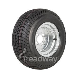 "Wheel 6.00-10"" Galv 4x4"" PCD Rim 20.5x8-10 6ply Road Tyre W152"