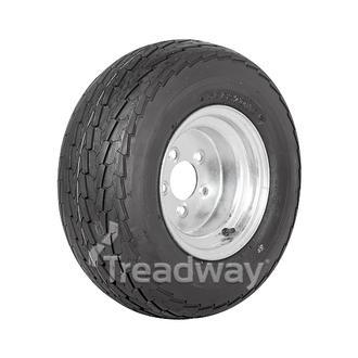 """Wheel 6.00-10"""" Galv 5x4.5"""" PCD Rim 20.5x8-10 6ply Road Tyre W146 Deestone"""