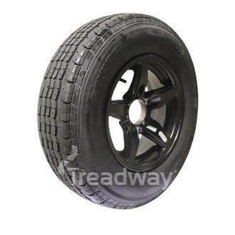 "Wheel 13x5"" Alloy Blade Satin Black 5x4.5"" PCD Rim 185/80R13 Tyre Westlake 82T"