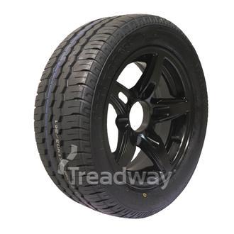 "Wheel 13x5"" Alloy Blade Satin Black 5x4.5"" PCD Rim 195/50R13C 8ply Tyre W169 Ve"