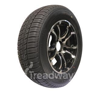 "Wheel 13x5"" Alloy Loadstar XT Black 5x4.5"" PCD Rim 175/70R13 Tyre W188 Westlake"