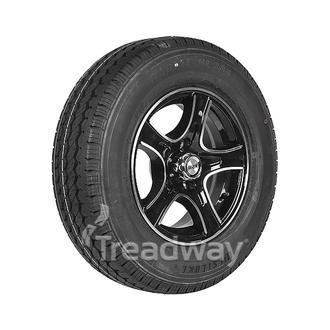 "Wheel 14x5.5"" Alloy Razor Black 5x4.5"" PCD Rim 185R14C 8ply Tyre W305"